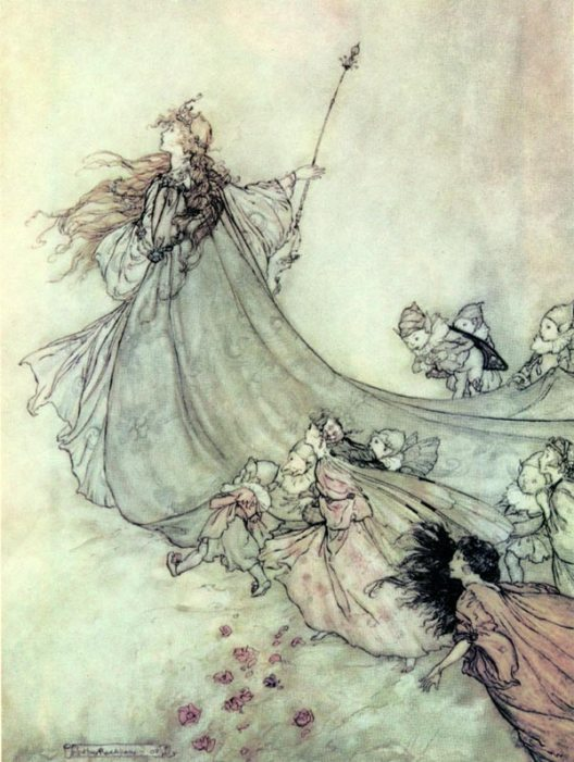 Артур Рэкхем - Титания (Шекспир - Сон в летнюю ночь)