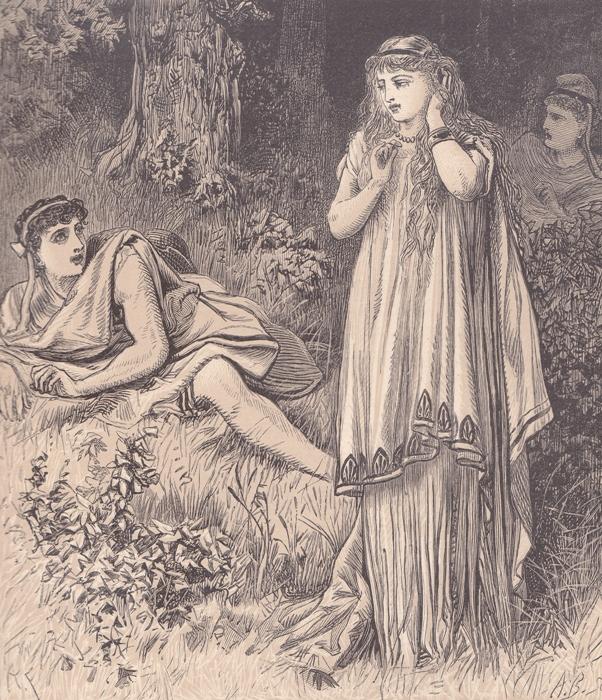 Alfred Fredericks. Деметрий и Елена (Шекспир - Сон в летнюю ночь)