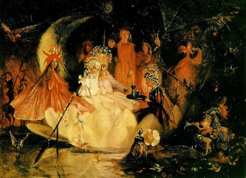 John Anster Fitzgerald - Оберон и Титания (Шекспир - Сон в летнюю ночь)