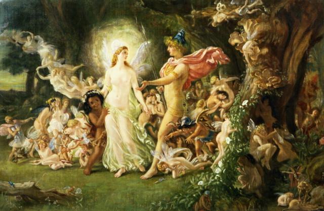 Joseph Noel Paton. Спор Оберона и Титании (Шекспир - Сон в летнюю ночь)