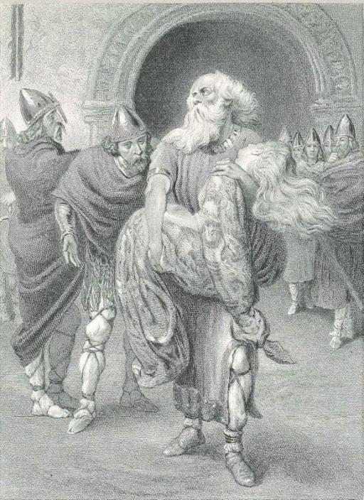 Regele Lear şi Cordelia mort