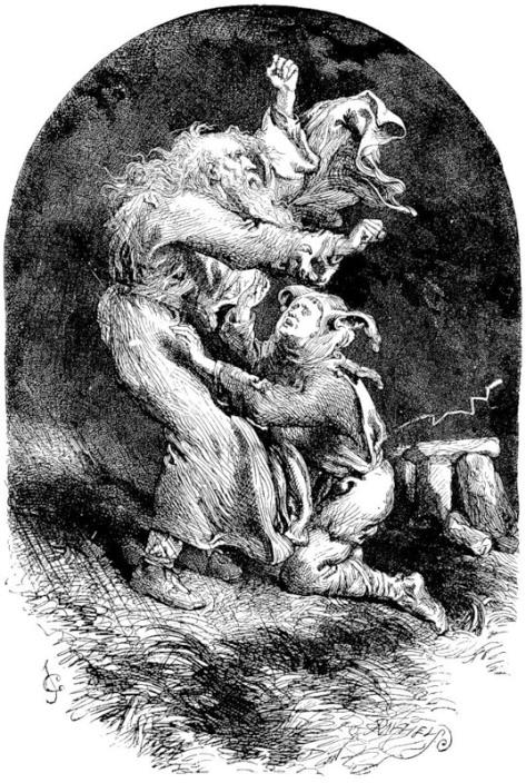 John Gilbert. Король Лир и шут во время шторма