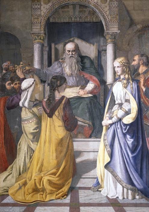 Herbert John Rogers.  Regele Lear şi fiicele sale