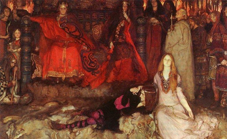 Edwin Abbe. Гамлет и Офелия (Шекспир - Гамлет)