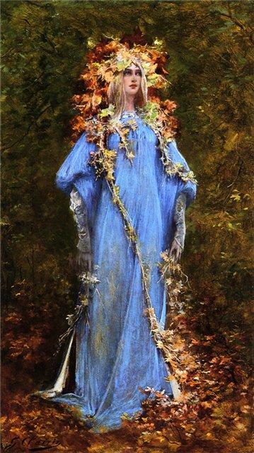 Georges Jules Victor Clairin. Офелия (Шекспир - Гамлет)