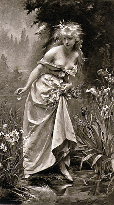 Madeleine Lemaire. Офелия (Шекспир - Гамлет)