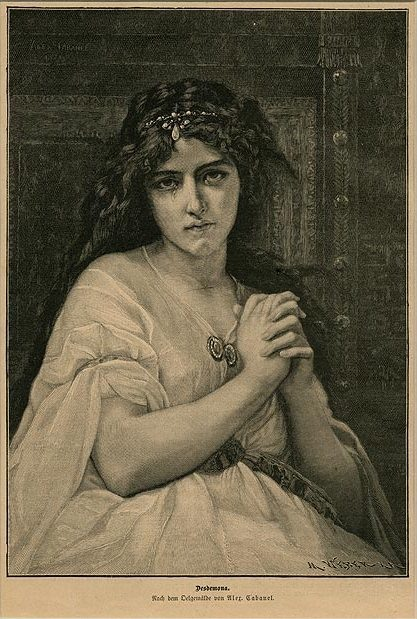 Александр Кабанель. Дездемона (Шекспир - Отелло)