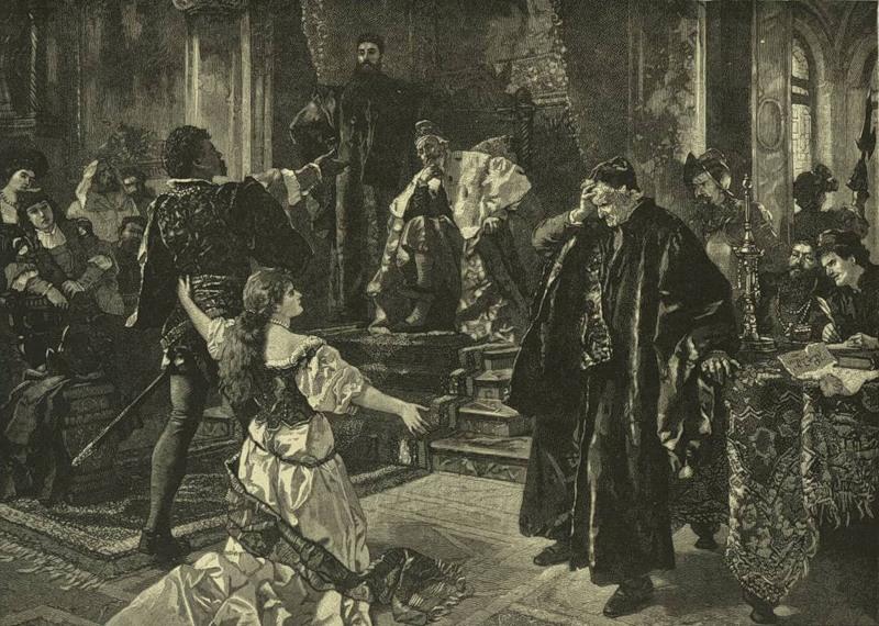 Карл Бекер. Отелло и Дездемона отвергают обвинения (Шекспир - Отелло)