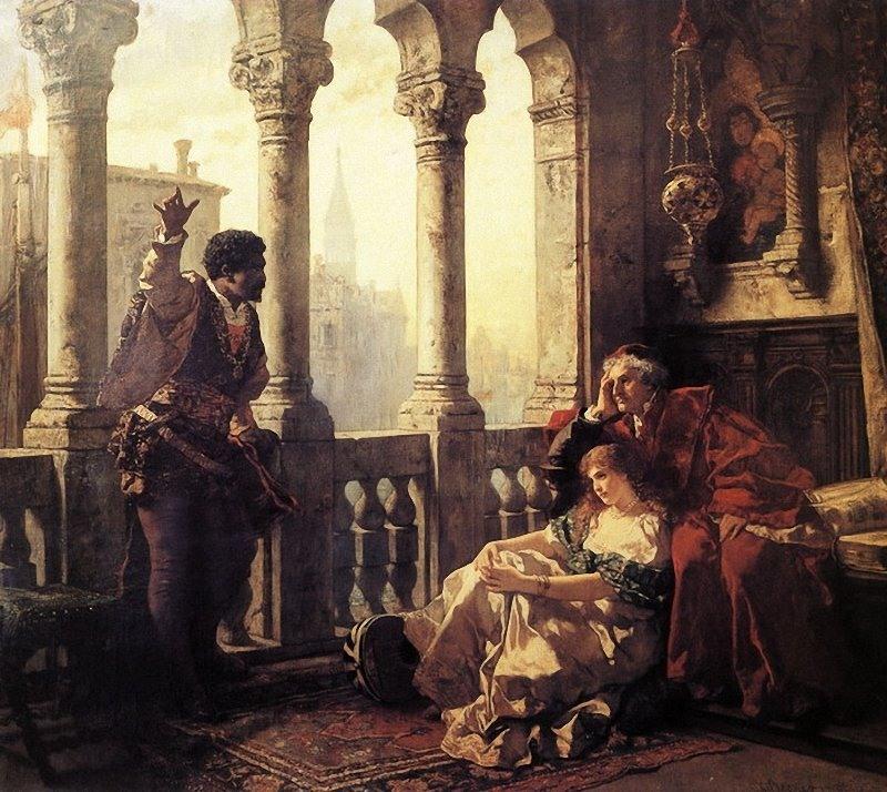 Carl Ludwig Friedrich Becker. Отелло рассказывает Дездемоне и её отцу о своих приключениях (Шекспир - Отелло)