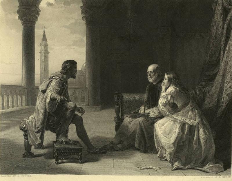 D. Cowper. Отелло рассказывает Дездемоне и её отцу о своих приключениях (Шекспир - Отелло)