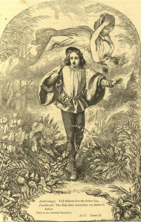 Фердинанд и Ариэль (Шекспир - Буря)