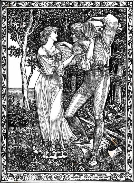 Walter Crane - Миранда и Фердинанд (Шекспир - Буря)