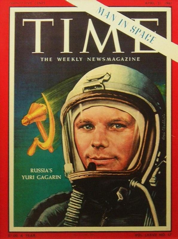 Юрий Гагарин на обложке  журнала Time