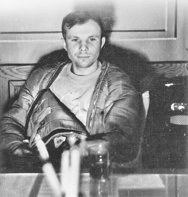 Юрий Гагарин после полета в космос