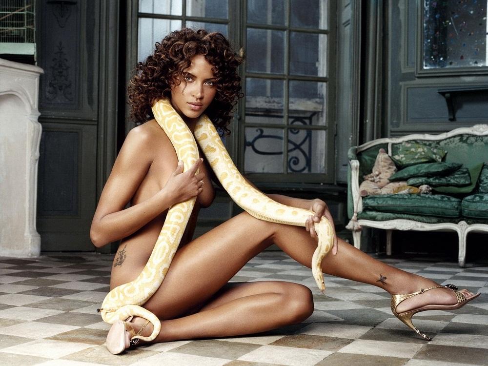 голая французская модель Ноэми Ленуар / Noémie Lenoir фото