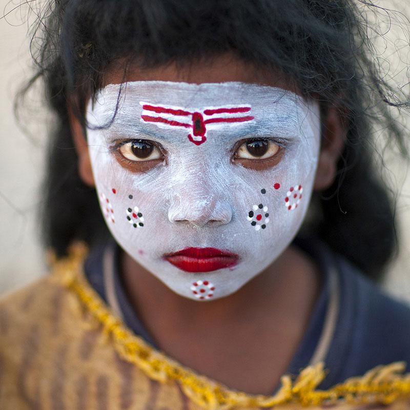 красивая девочка-индуска фото