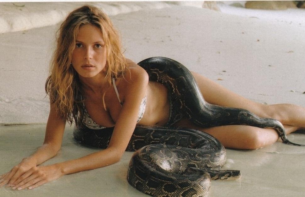 Хайди Клум / Heidi Klum and snake