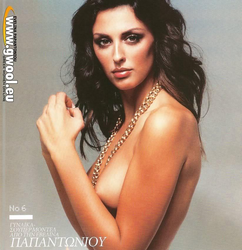 голая девушка гречанка Эвелина Папантониу фото