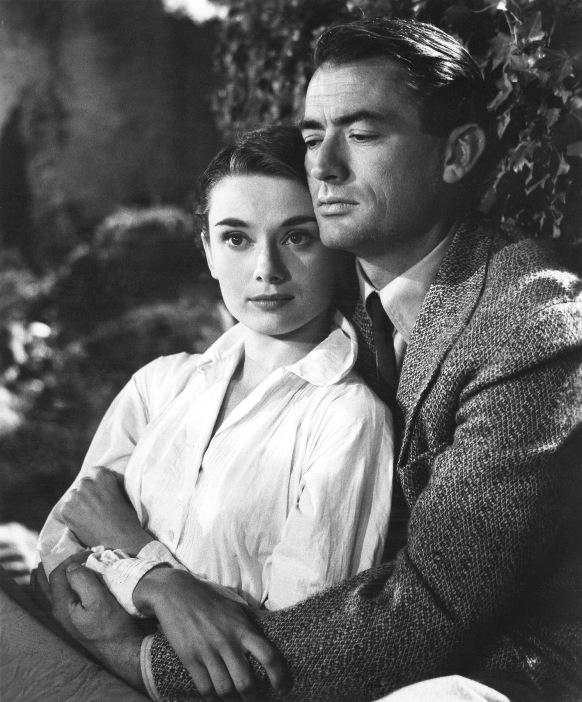 Грегори Пек и Одри Хепберн (Римские каникулы, 1953)