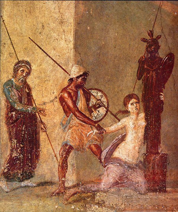 Кассандра и Аякс. Фреска из Помпеи