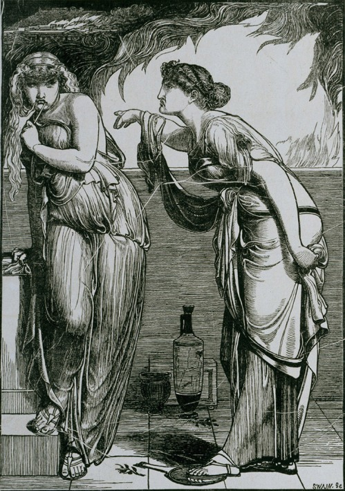 Frederick Sandys - Елена и Кассандра