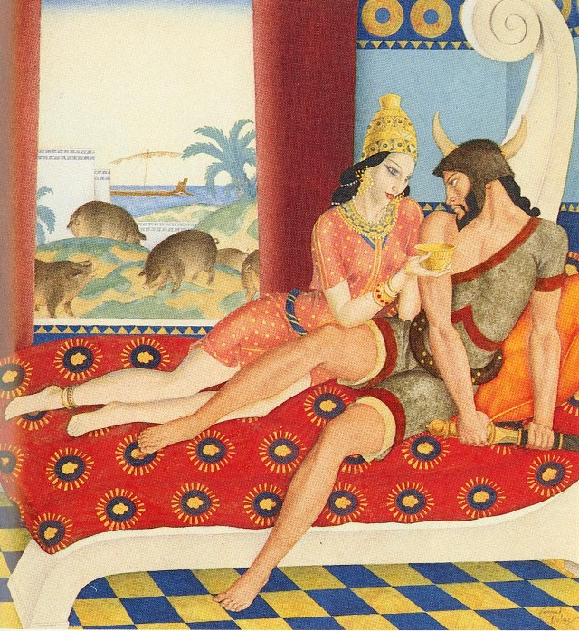 Edmund Dulac - Одиссей и Цирцея