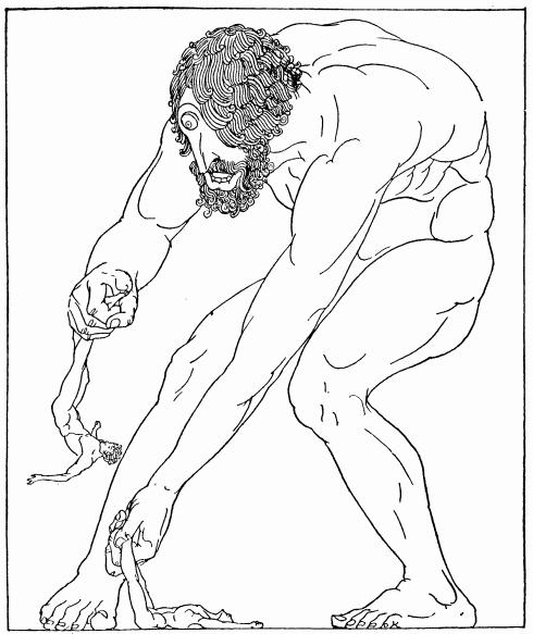 Willy Pogany. Циклоп Полифем убивает спутников Одиссея