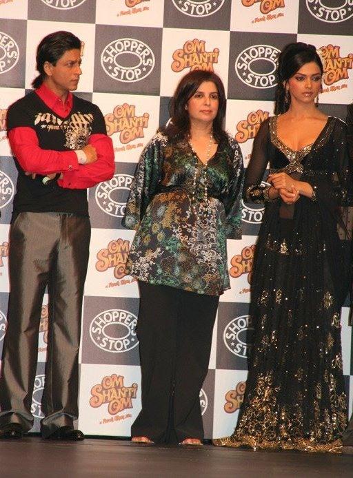 Шахрукх Кхан (слева), Дипика Падукон (справа), Фара Кхан (в центре)