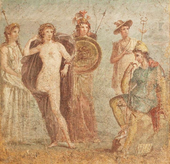 Суд Париса. Фреска из Помпеи