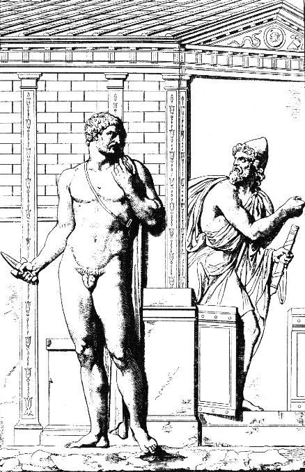 Wilhelm Heinrich Roscher. Диомед (слева) и Одиссей (справа) проникают в Трою