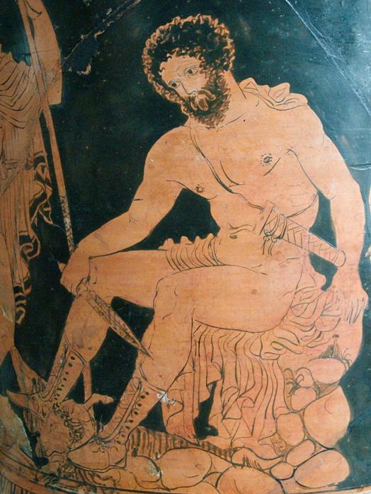 Одиссей. Греческая роспись 4 века до н.э.