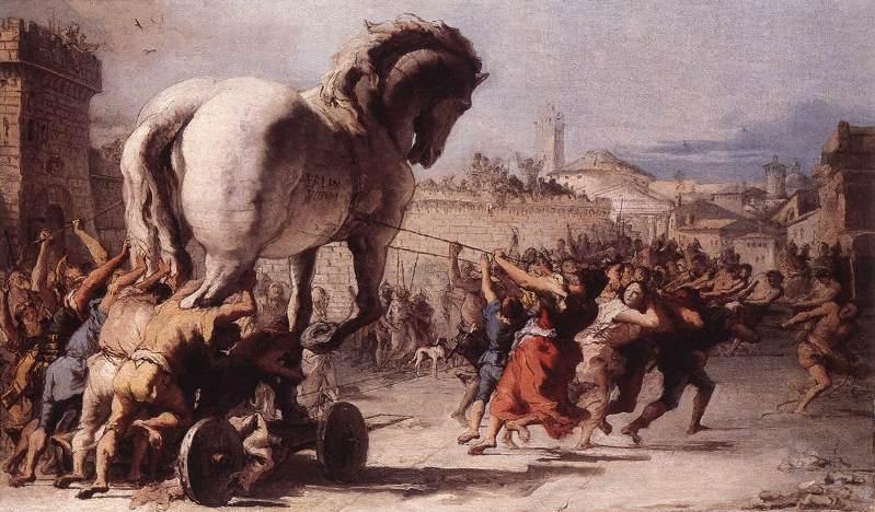 Tiepolo. Троянский конь