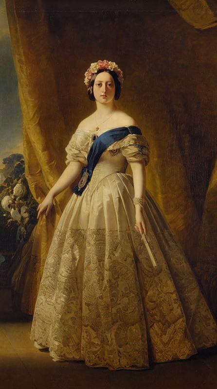 Франц Винтельхальтер. Портрет королевы Виктории, 1844-45