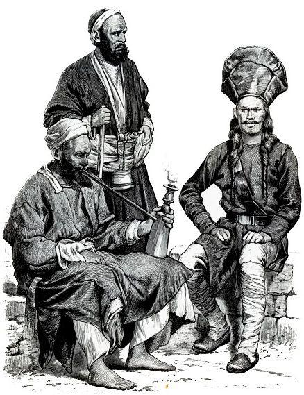 Жители Кашмира и солдат