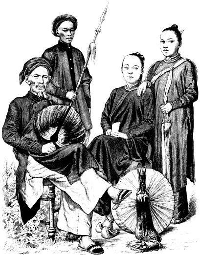 Знатный мужчина и девушки из Аннама (Вьетнам)