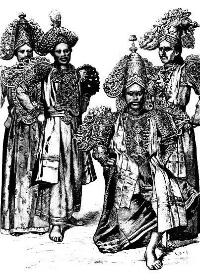 Цейлонские глашатаи и актеры