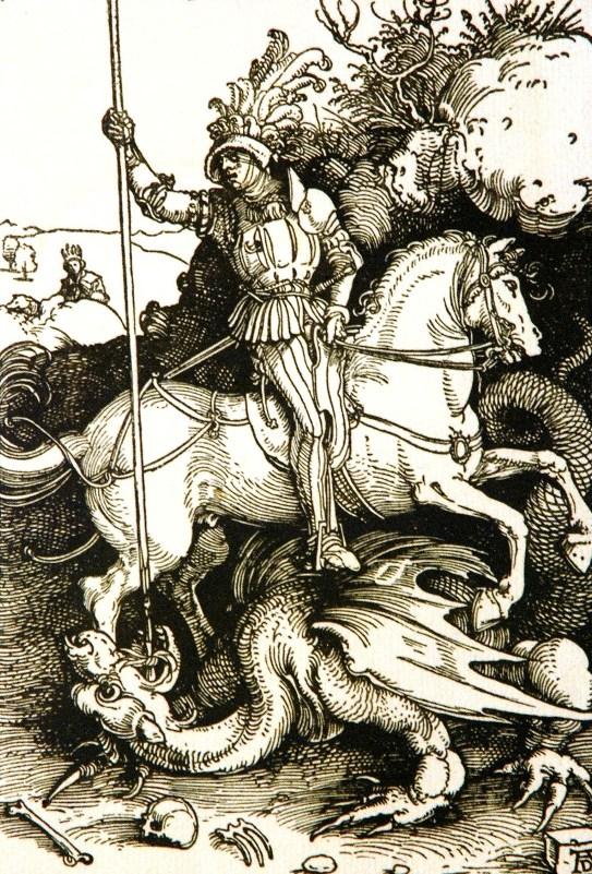 Альбрехт Дюрер. Святой Георгий и дракон