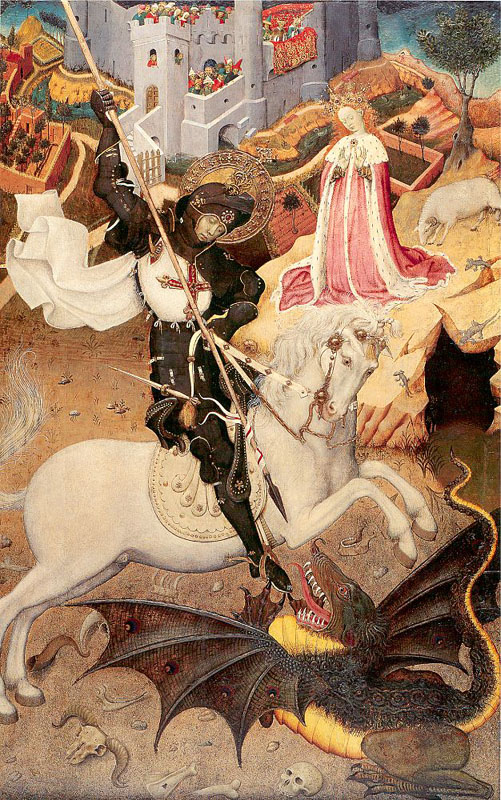 Bernat Martorel. Святой Георгий и дракон