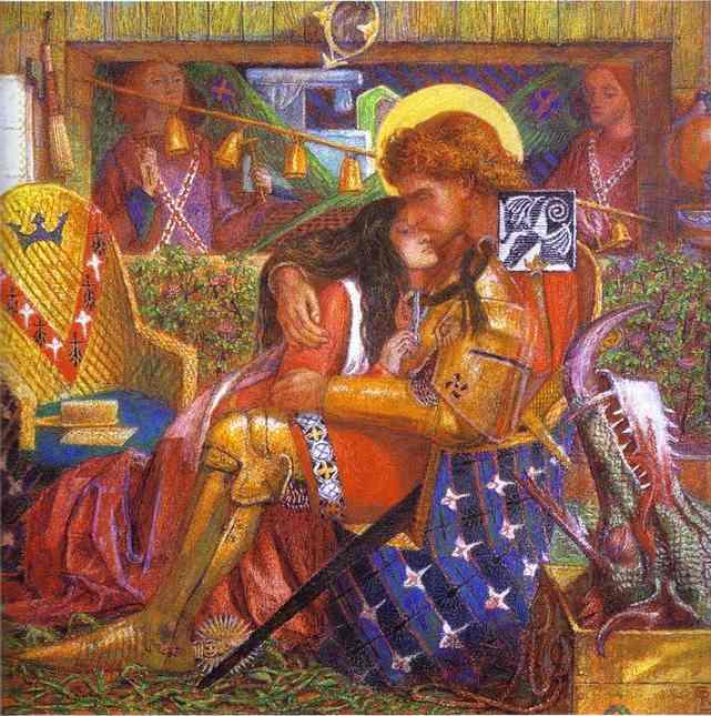 Dante Gabriel Rossetti. Свадьба святого Георгия и принцессы Сабры