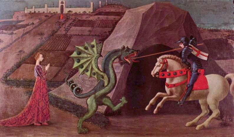 Paolo Uccello. Святой Георгий и дракон