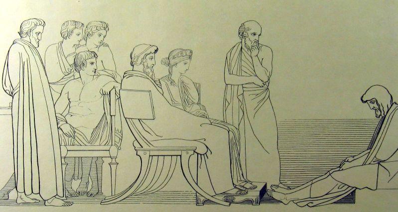 Джон Флаксман - Одиссей у царя Алкиноя