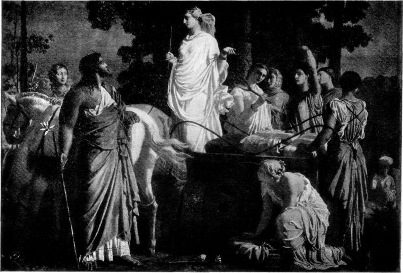 Charles Gleyre - Одиссей и Навсикая