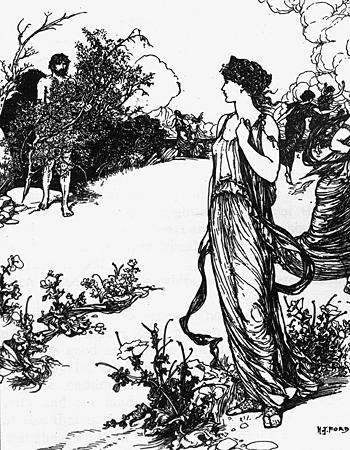 H. J. Ford - Одиссей и Навсикая