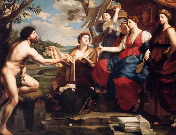 Michele Desubleo - Одиссей и Навсикая