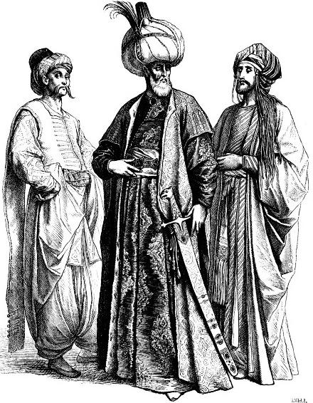 Турецкий паша и знатные турки