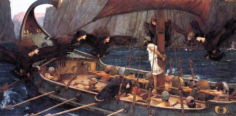 Джон Уильям Уотерхаус - Одиссей и сирены