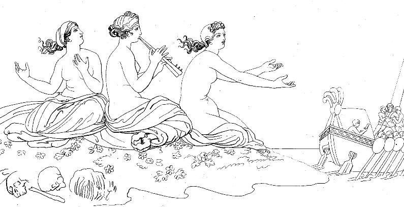 Джон Флаксман - Одиссей и сирены