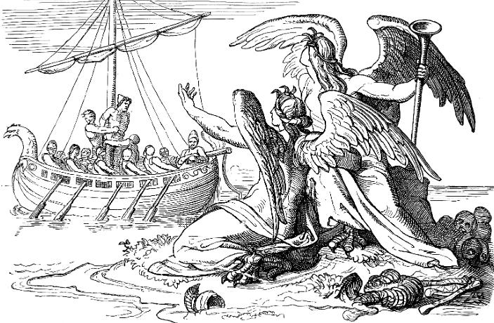 Густав Шваб - Одиссей и сирены