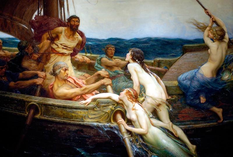 H.J. Draper - Одиссей и сирены