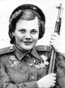 Снайпер Нина Лобковская. Фотография